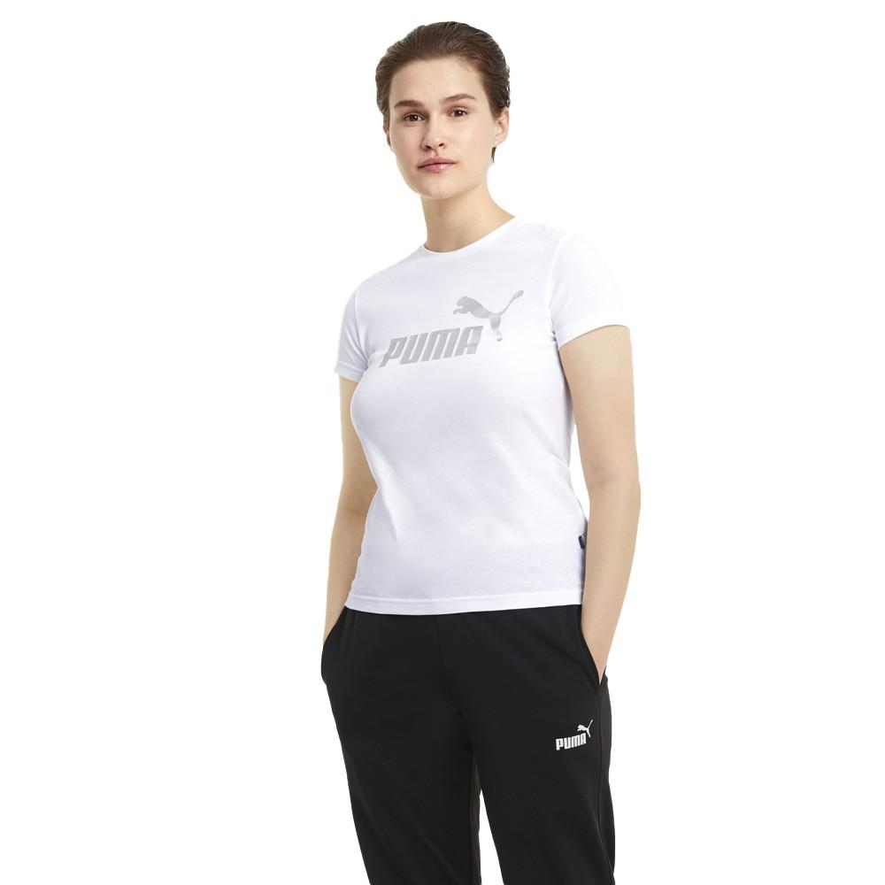 Puma Essentials+ Metallic Logo Women's Tee - 586890-02