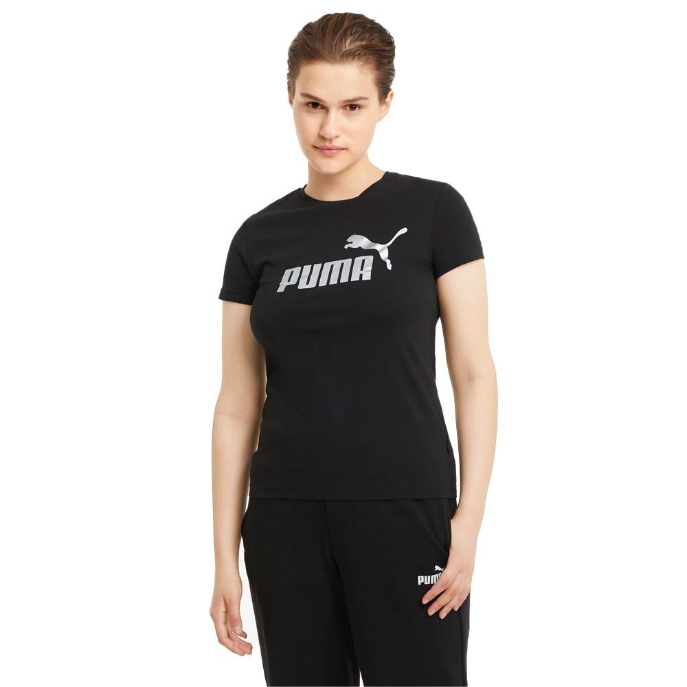 Puma Essentials+ Metallic Logo Women's Tee - 586890-51