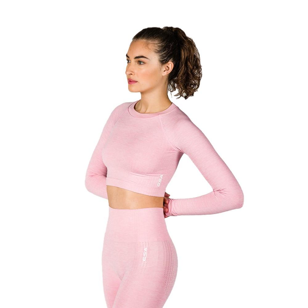 GSA Hydro Seamless Crop Top Pink - 1727106-12