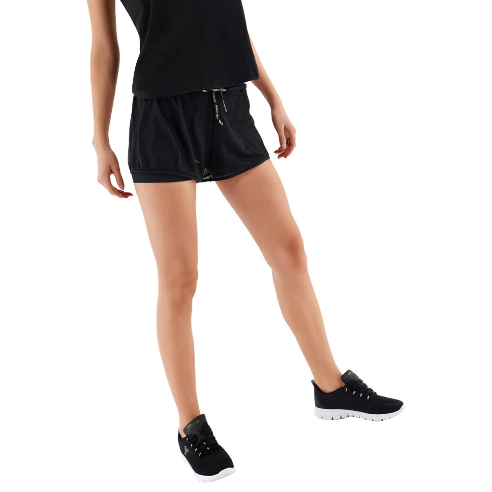 Freddy 2-in-1 athletic shorts in breathable performance fabric - S1WTBP7-N