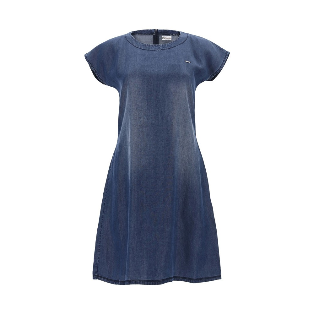 Freddy A-line dress in denim-effect plant-based fabric - S1WSLD4-J47