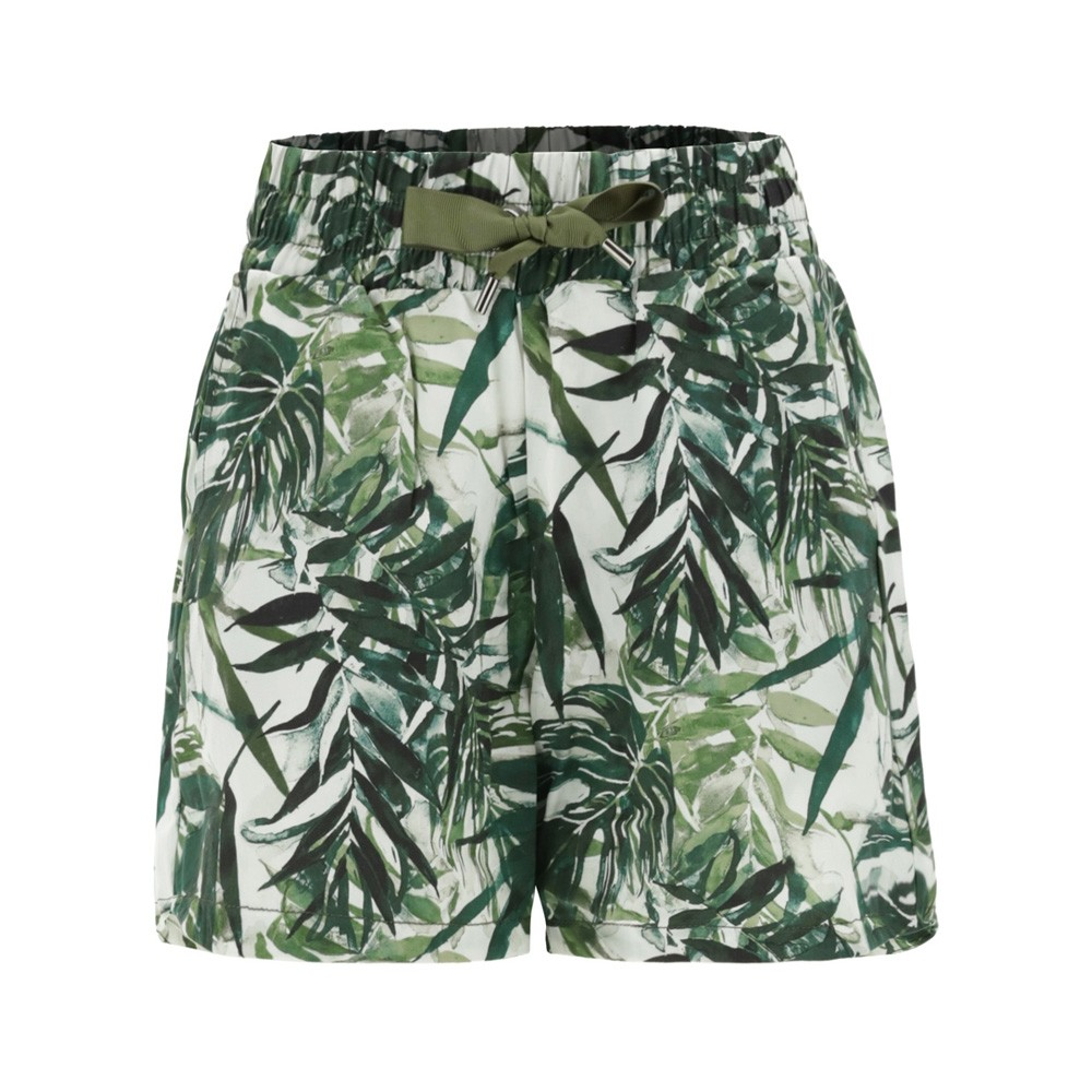 Freddy Plant-based fabric shorts with a tropical print - S1WSLP21C-FLO10