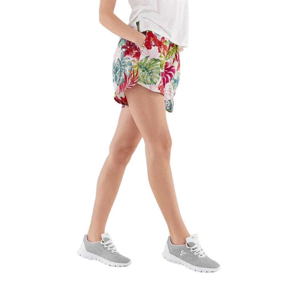 Freddy Tropical flower print shorts in plant-based fabric - S1WSLP20C-FLO11