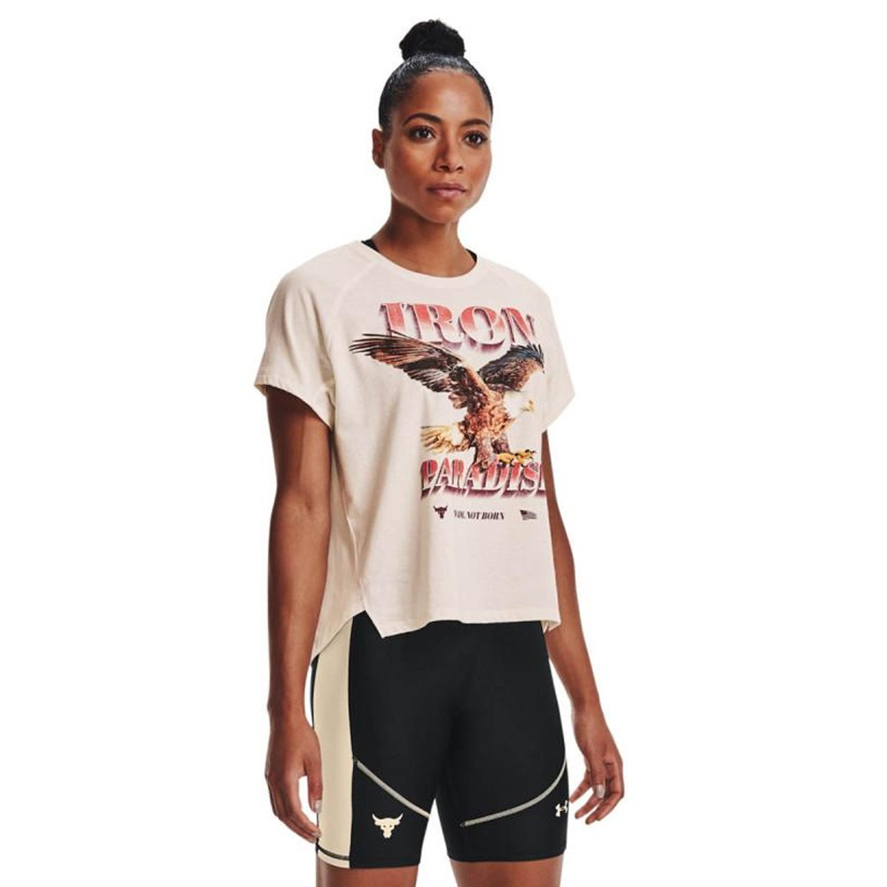 Under Armour Women's Project Rock Iron Paradise Short Sleeve - 1365996-112