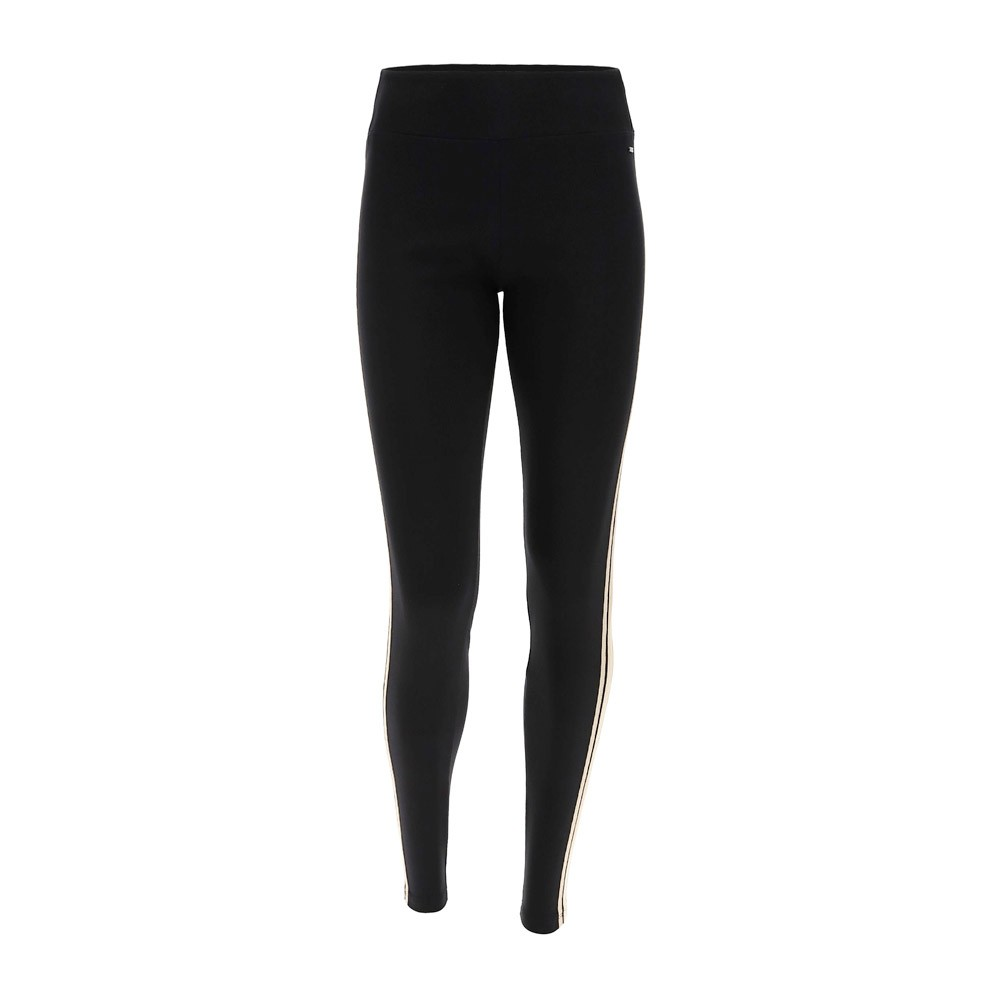 Freddy Workout leggings with double lateral bands in lurex - F1WSLP4-NO